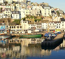 Brixham Harbour On A Sunny Winter Day by briseham
