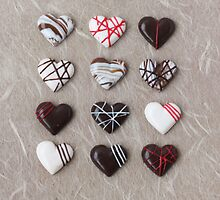 Tiny Chocolate Heart Pralines for Valentine's Day by PetitPlat