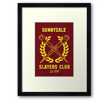 Sunnydale Slayers Club Framed Print