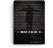 The Reichenbach Fall fan poster Canvas Print
