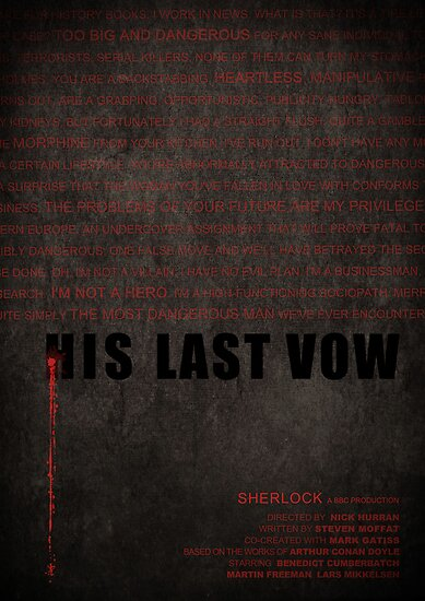 His Last Vow fan poster by koroa
