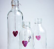 Bottles with love by Arina Borevich