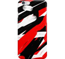 Military camouflage red-black-white  iPhone Case/Skin