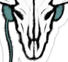Sherlock - Cow skull (white text) Sticker