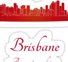 Brisbane skyline in red Sticker