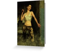 The Rebel Soldier Greeting Card