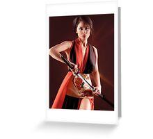 Geisha warrior art photo print Greeting Card