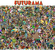 Complete cast of Futurama! by algova