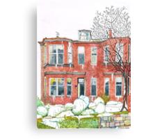 Eleanors House Ayr Scotland Snow scene 1 Canvas Print