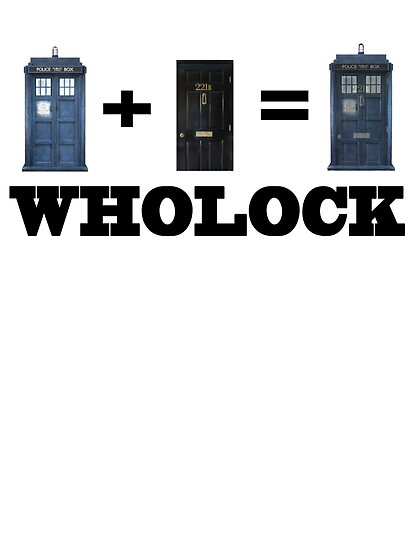 TARDIS + 221B = Wholock poster by Bethjm223