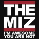 THE MIZ I'm Awesome You Are Not RUN DMC Mashup by D. Porter atomiclegdrop.com