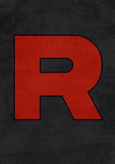 Team Rocket Logo Design Poster Pokemon Original by Jorden Tually