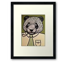 Panda Dad faces Retirement  Framed Print