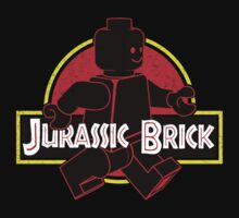 Jurassic Brick shirt and sticker by Matt Teleha