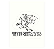 NATAL SHARKS FOR DARK SHIRTS SOUTH AFRICA RUGBY SUPER RUGBY  Art Print