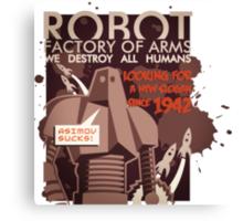 Asimov sucks Canvas Print