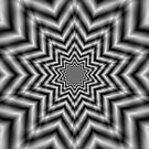 Optically Challenging Star in Black and White by Objowl
