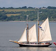 Johanna Lucretia, schooner, off Duncannon, County Wexford, Ireland by Andrew Jones