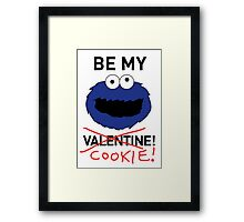 COOKIE MONSTER VALENTINE'S CARD Framed Print