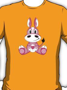 Cute Cartoon Valentine Horse Pattern T-Shirt