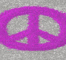 The Fuchsia Splat Painted Peace Symbol by OneArtsyMomma