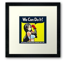 We Can Do it Cloud! Framed Print