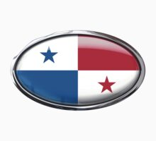 Panama Flag in Glass Oval by Ovals