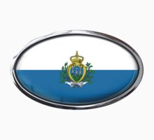 San Marino Flag in Glass Oval by Ovals
