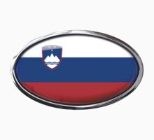 Slovenia Flag in Glass Oval by Ovals