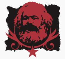 Socialist Karl Marx Red Star Stickers by NeoFaction