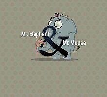 Slick Mr. Elephant & Mr. Mouse iPad case! by Glenn Melenhorst