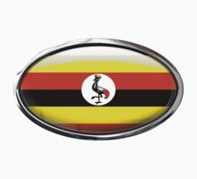 Uganda Flag in Glass Oval by Ovals