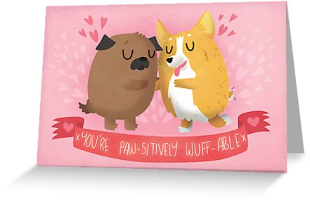 Paw-sitively Wuff-able Valentine's Day Card by Claire Stamper