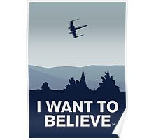 My I want to believe minimal poster-xwing Poster