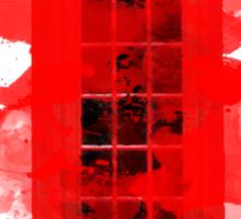 Red Telephone Splatter Box Sticker