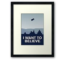 My I want to believe minimal poster-tardis Framed Print