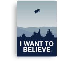 My I want to believe minimal poster-tardis Canvas Print