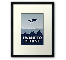 My I want to believe minimal poster-Enterprice Framed Print