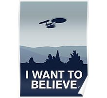 My I want to believe minimal poster-Enterprice Poster