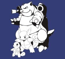 Squirtle  Evolution Line by DigitalPokemon