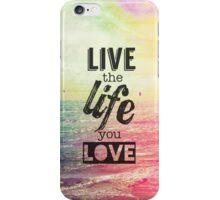Live Life Love iPhone Case/Skin