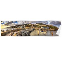 Ventnor Sunset Panorama Poster