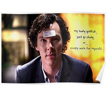 Go study, goldfish-Sherlock Holmes Poster