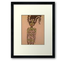 The Monster's Bride Wrapped Up for Halloween  Framed Print