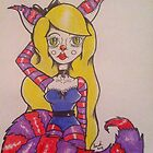 Alice Dressed Up as the Cheshire Cat  by Sarah Allen