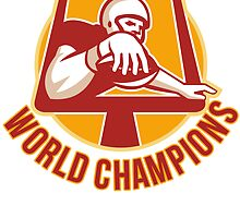 American Football Touchdown World Champions by patrimonio