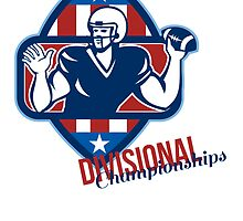 American Football Quarterback Divisional Championships Retro by patrimonio