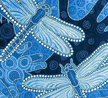Blue dragonflies by Barbara Glatzeder