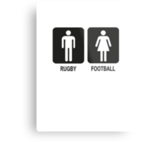 RUGBY V FOOTBALL Metal Print