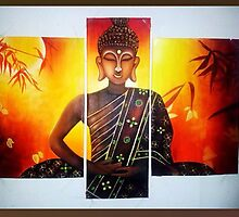 Buddha - Multi Piece 3 Piece by Sheetal Bhonsle